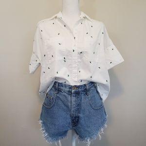 Vintage Arizona High Rise Raw Hem Jean Shorts Sz 9
